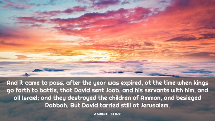 Picture 03 - 2 Samuel 11:1 KJV 4K Wallpaper - And it came to pass, after the year was expired, - 4K Wallpaper Bible Verse