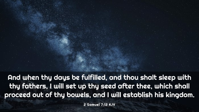 Picture 03 - 2 Samuel 7:12 KJV 4K Wallpaper - And when thy days be fulfilled, and thou shalt - 4K Wallpaper Bible Verse