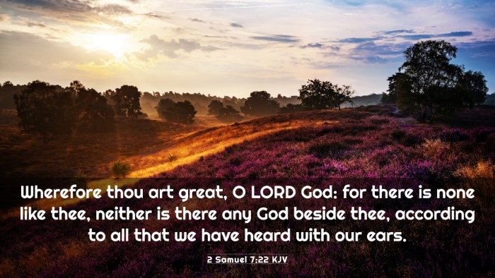 Picture 03 - 2 Samuel 7:22 KJV 4K Wallpaper - Wherefore thou art great, O LORD God: for there - 4K Wallpaper Bible Verse