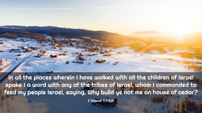 Picture 03 - 2 Samuel 7:7 KJV 4K Wallpaper - In all the places wherein I have walked with all - 4K Wallpaper Bible Verse
