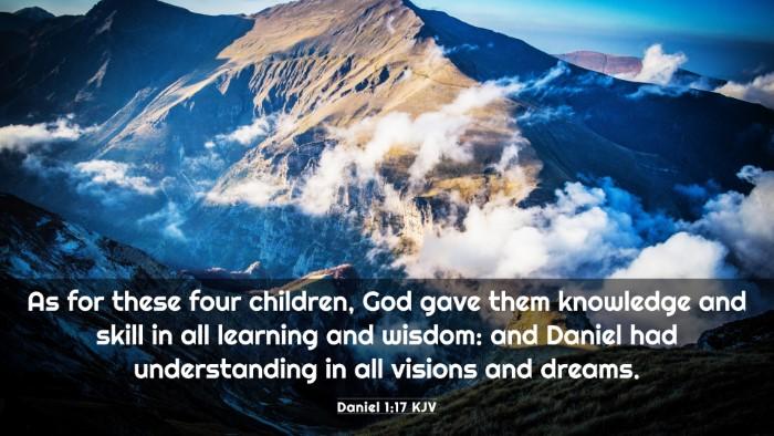 Picture 03 - Daniel 1:17 KJV 4K Wallpaper - As for these four children, God gave them - 4K Wallpaper Bible Verse