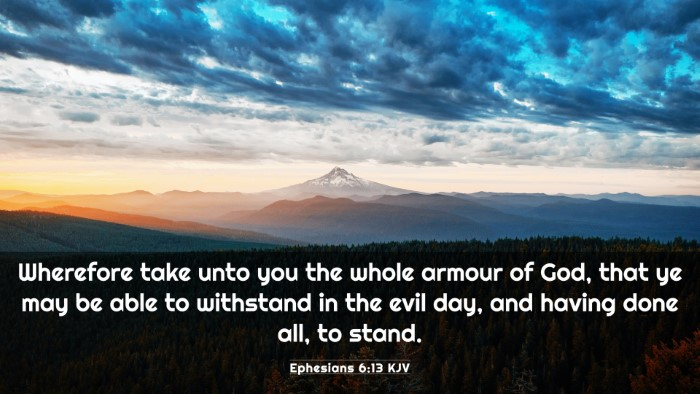 Picture 03 - Ephesians 6:13 KJV 4K Wallpaper - Wherefore take unto you the whole armour of God, - 4K Wallpaper Bible Verse