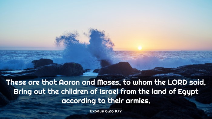 Picture 03 - Exodus 6:26 KJV 4K Wallpaper - These are that Aaron and Moses, to whom the LORD - 4K Wallpaper Bible Verse