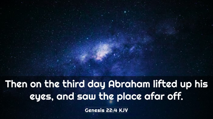 Picture 03 - Genesis 22:4 KJV 4K Wallpaper - Then on the third day Abraham lifted up his eyes, - 4K Wallpaper Bible Verse
