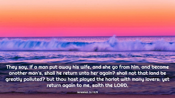 Picture 03 - Jeremiah 3:1 KJV 4K Wallpaper - They say, If a man put away his wife, and she go - 4K Wallpaper Bible Verse