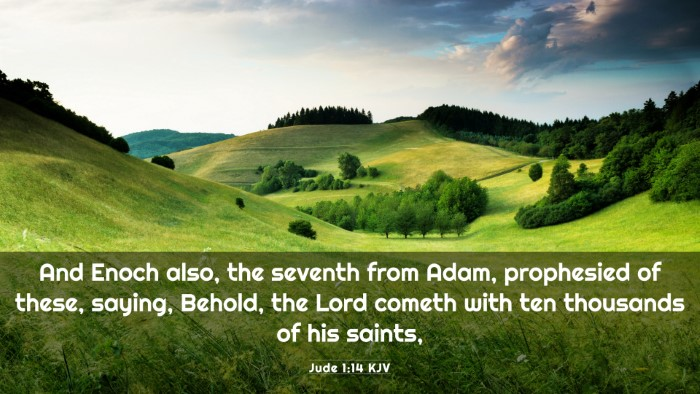 Picture 03 - Jude 1:14 KJV 4K Wallpaper - And Enoch also, the seventh from Adam, prophesied - 4K Wallpaper Bible Verse