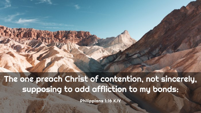 Picture 03 - Philippians 1:16 KJV 4K Wallpaper - The one preach Christ of contention, not - 4K Wallpaper Bible Verse