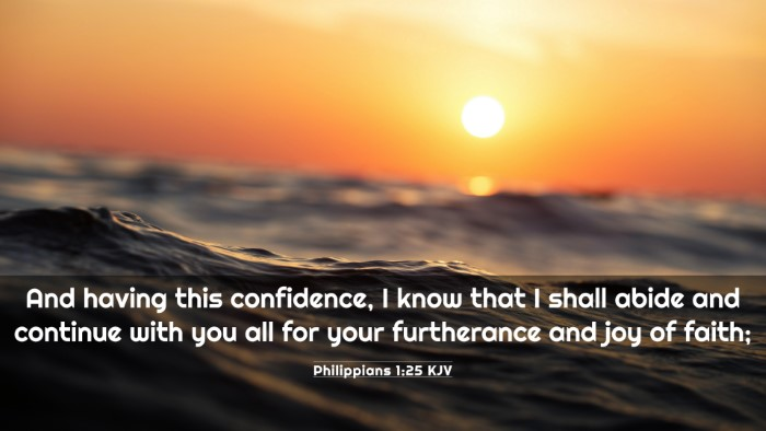 Picture 03 - Philippians 1:25 KJV 4K Wallpaper - And having this confidence, I know that I shall - 4K Wallpaper Bible Verse
