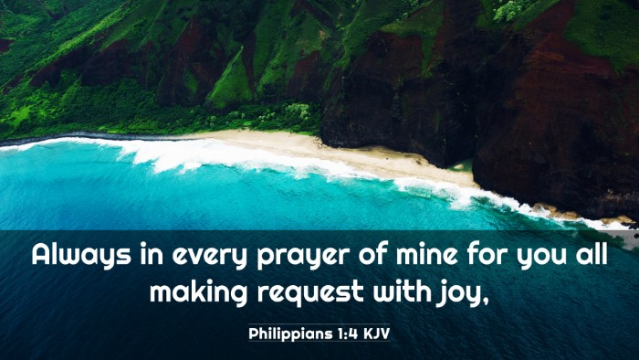 Picture 03 - Philippians 1:4 KJV 4K Wallpaper - Always in every prayer of mine for you all making - 4K Wallpaper Bible Verse