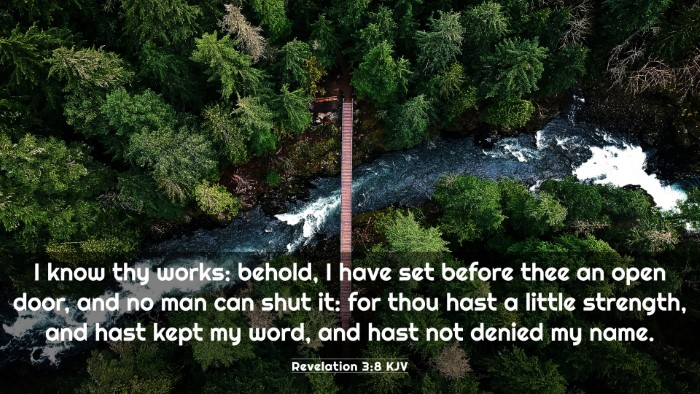 Picture 03 - Revelation 3:8 KJV 4K Wallpaper - I know thy works: behold, I have set before thee - 4K Wallpaper Bible Verse