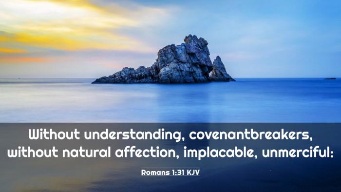 Picture 03 - Romans 1:31 KJV 4K Wallpaper - Without understanding, covenantbreakers, without - 4K Wallpaper Bible Verse