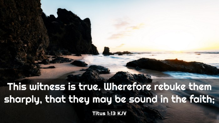 Picture 03 - Titus 1:13 KJV 4K Wallpaper - This witness is true. Wherefore rebuke them - 4K Wallpaper Bible Verse