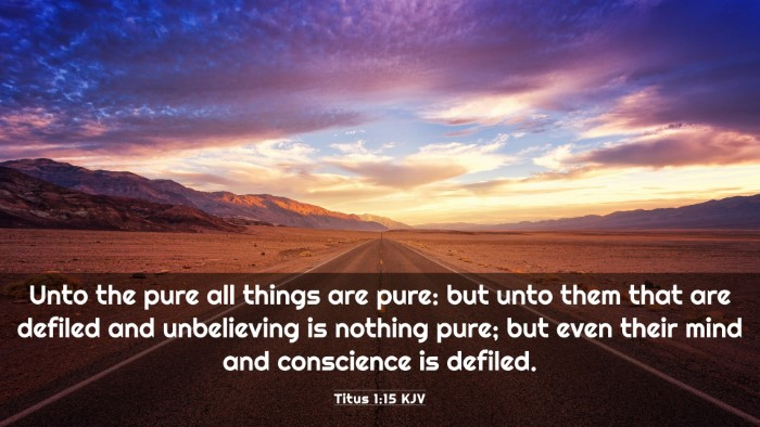 Picture 03 - Titus 1:15 KJV 4K Wallpaper - Unto the pure all things are pure: but unto them - 4K Wallpaper Bible Verse