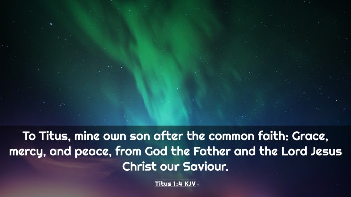 Picture 03 - Titus 1:4 KJV 4K Wallpaper - To Titus, mine own son after the common faith: - 4K Wallpaper Bible Verse