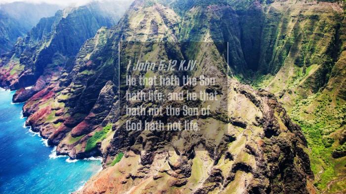 Picture 04 - 1 John 5:12 KJV 4K Wallpaper - He that hath the Son hath life; and he that hath - 4K Wallpaper Bible Verse