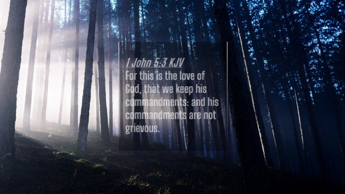 Picture 04 - 1 John 5:3 KJV 4K Wallpaper - For this is the love of God, that we keep his - 4K Wallpaper Bible Verse