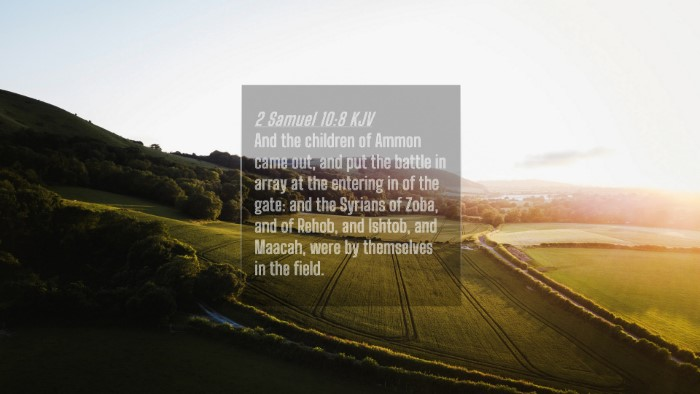 Picture 04 - 2 Samuel 10:8 KJV 4K Wallpaper - And the children of Ammon came out, and put the - 4K Wallpaper Bible Verse