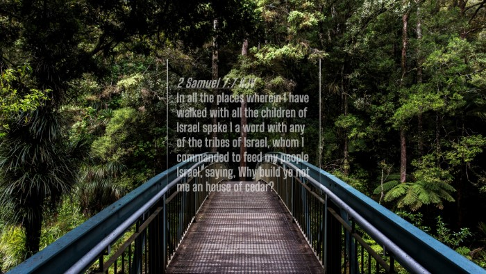 Picture 04 - 2 Samuel 7:7 KJV 4K Wallpaper - In all the places wherein I have walked with all - 4K Wallpaper Bible Verse