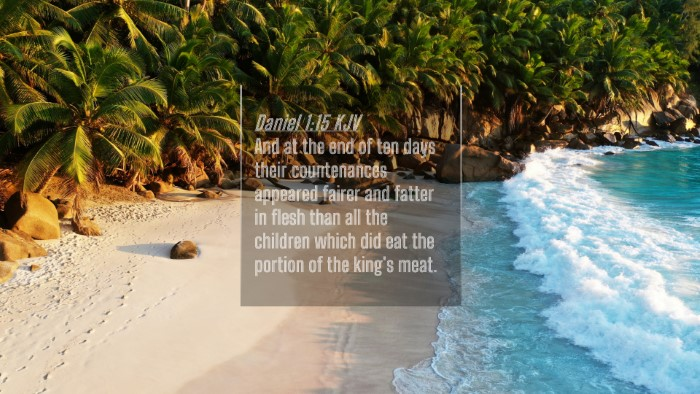 Picture 04 - Daniel 1:15 KJV 4K Wallpaper - And at the end of ten days their countenances - 4K Wallpaper Bible Verse