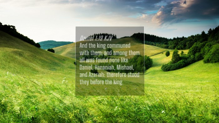 Picture 04 - Daniel 1:19 KJV 4K Wallpaper - And the king communed with them; and among them - 4K Wallpaper Bible Verse
