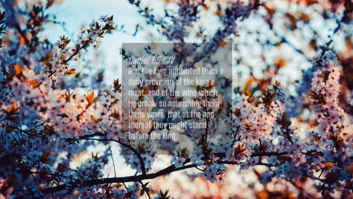 Picture 04 - Daniel 1:5 KJV 4K Wallpaper - And the king appointed them a daily provision of - 4K Wallpaper Bible Verse