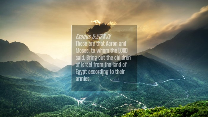 Picture 04 - Exodus 6:26 KJV 4K Wallpaper - These are that Aaron and Moses, to whom the LORD - 4K Wallpaper Bible Verse