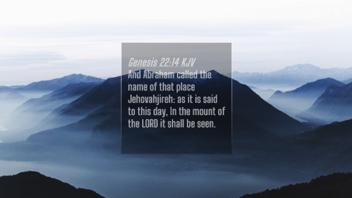 Picture 04 - Genesis 22:14 KJV 4K Wallpaper - And Abraham called the name of that place - 4K Wallpaper Bible Verse