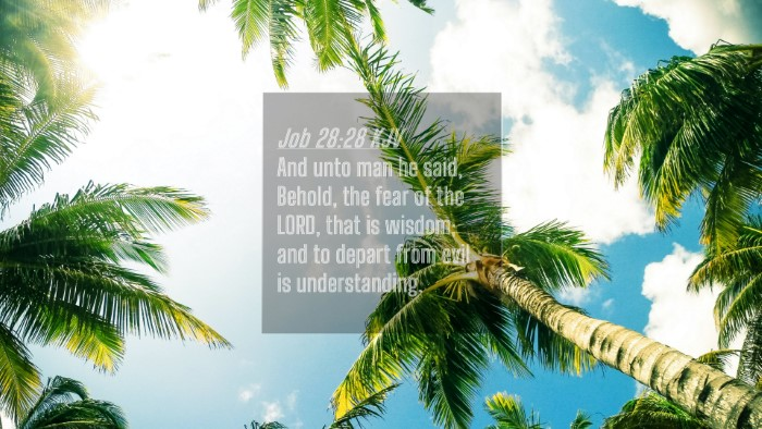 Picture 04 - Job 28:28 KJV 4K Wallpaper - And unto man he said, Behold, the fear of the - 4K Wallpaper Bible Verse