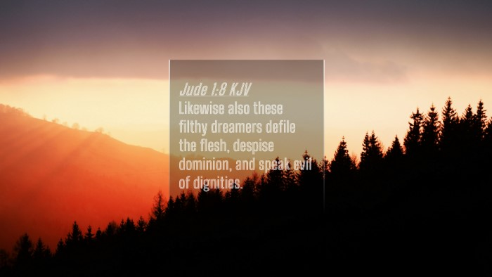 Picture 04 - Jude 1:8 KJV 4K Wallpaper - Likewise also these filthy dreamers defile the - 4K Wallpaper Bible Verse