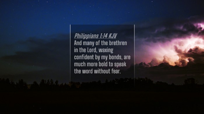 Picture 04 - Philippians 1:14 KJV 4K Wallpaper - And many of the brethren in the Lord, waxing - 4K Wallpaper Bible Verse