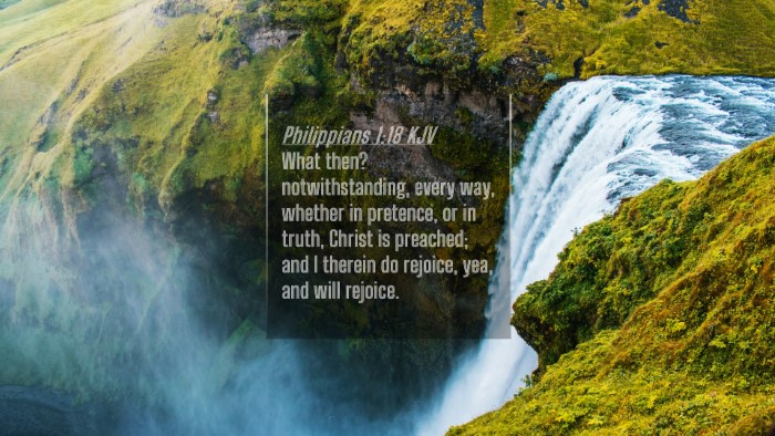 Picture 04 - Philippians 1:18 KJV 4K Wallpaper - What then? notwithstanding, every way, whether in - 4K Wallpaper Bible Verse
