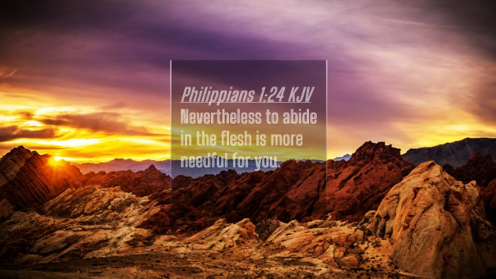 Picture 04 - Philippians 1:24 KJV 4K Wallpaper - Nevertheless to abide in the flesh is more - 4K Wallpaper Bible Verse