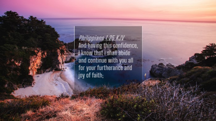 Picture 04 - Philippians 1:25 KJV 4K Wallpaper - And having this confidence, I know that I shall - 4K Wallpaper Bible Verse