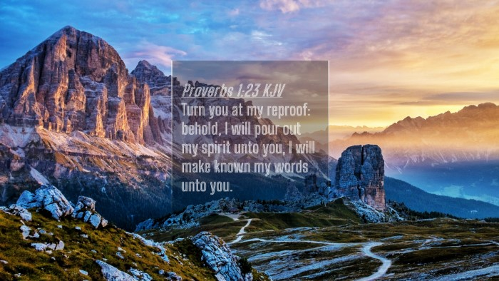 Picture 04 - Proverbs 1:23 KJV 4K Wallpaper - Turn you at my reproof: behold, I will pour out - 4K Wallpaper Bible Verse