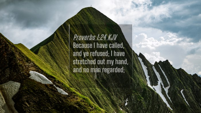 Picture 04 - Proverbs 1:24 KJV 4K Wallpaper - Because I have called, and ye refused; I have - 4K Wallpaper Bible Verse