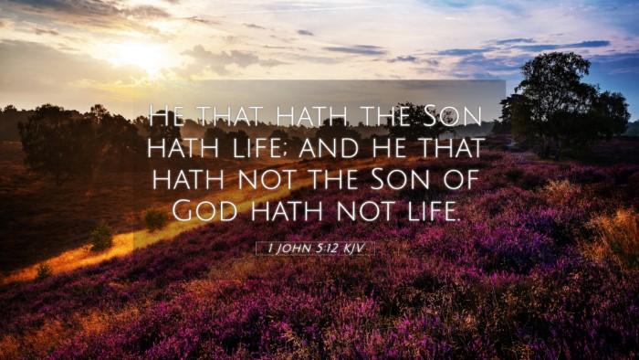 Picture 05 - 1 John 5:12 KJV 4K Wallpaper - He that hath the Son hath life; and he that hath - 4K Wallpaper Bible Verse