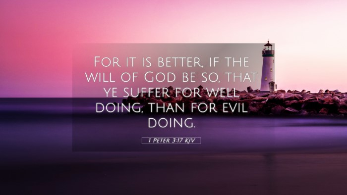 Picture 05 - 1 Peter 3:17 KJV 4K Wallpaper - For it is better, if the will of God be so, that - 4K Wallpaper Bible Verse