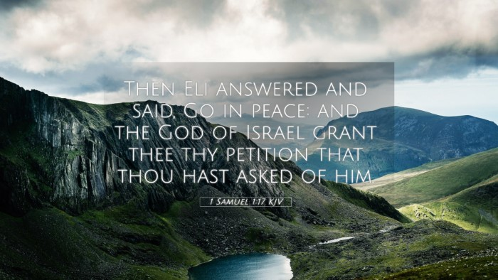 Picture 05 - 1 Samuel 1:17 KJV 4K Wallpaper - Then Eli answered and said, Go in peace: and the - 4K Wallpaper Bible Verse