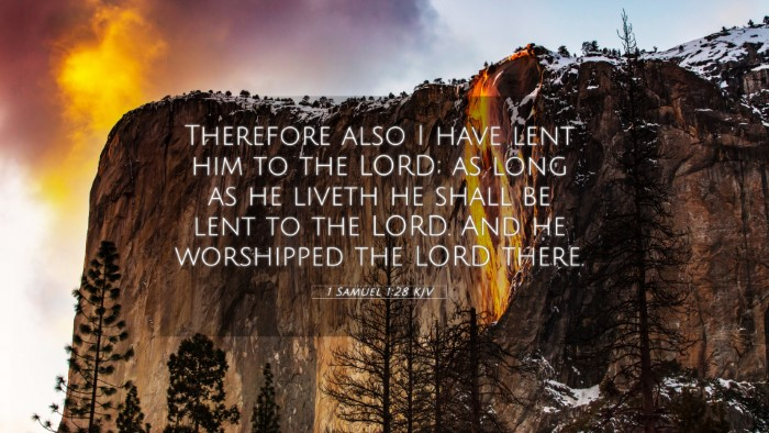 Picture 05 - 1 Samuel 1:28 KJV 4K Wallpaper - Therefore also I have lent him to the LORD; as - 4K Wallpaper Bible Verse