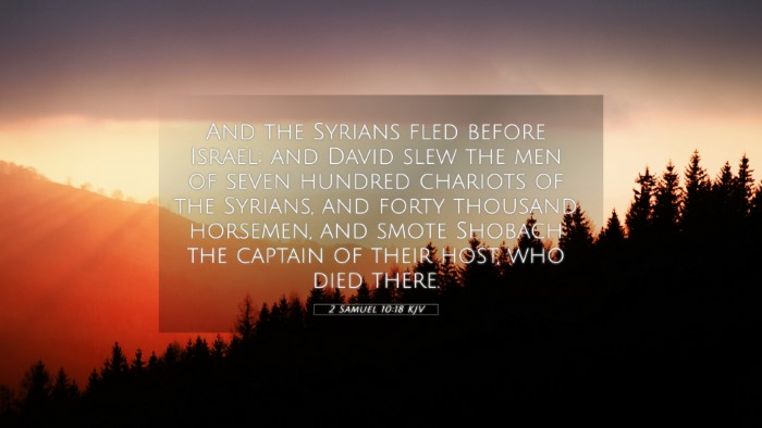 Picture 05 - 2 Samuel 10:18 KJV 4K Wallpaper - And the Syrians fled before Israel; and David - 4K Wallpaper Bible Verse