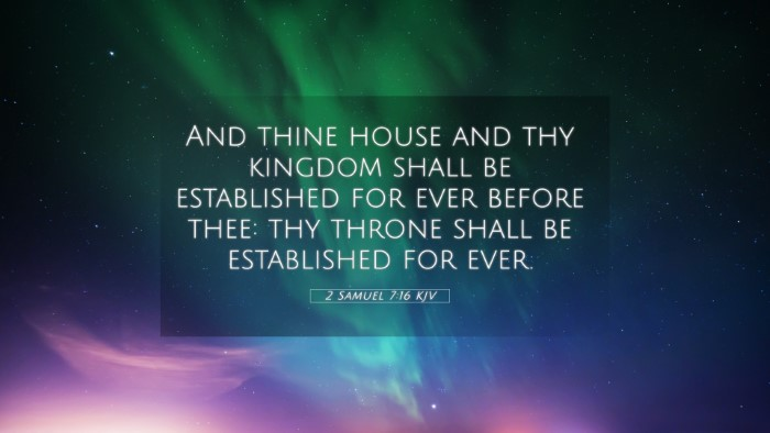 Picture 05 - 2 Samuel 7:16 KJV 4K Wallpaper - And thine house and thy kingdom shall be - 4K Wallpaper Bible Verse