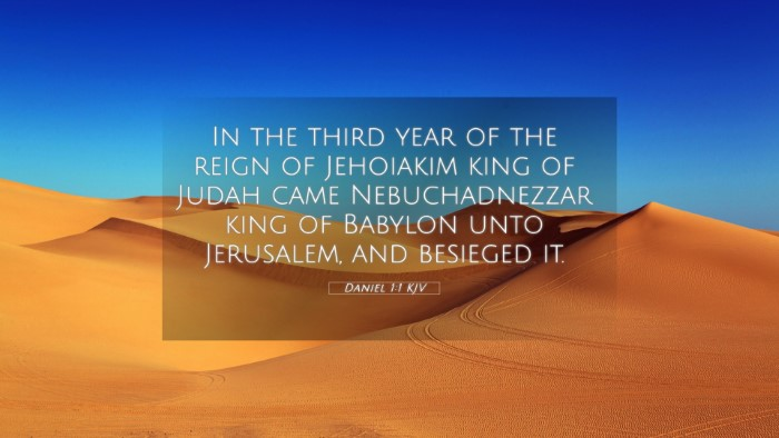 Picture 05 - Daniel 1:1 KJV 4K Wallpaper - In the third year of the reign of Jehoiakim king - 4K Wallpaper Bible Verse