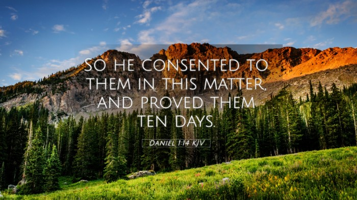 Picture 05 - Daniel 1:14 KJV 4K Wallpaper - So he consented to them in this matter, and - 4K Wallpaper Bible Verse