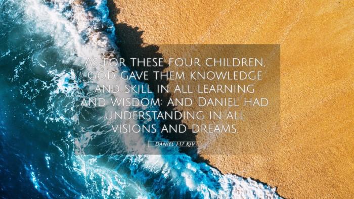 Picture 05 - Daniel 1:17 KJV 4K Wallpaper - As for these four children, God gave them - 4K Wallpaper Bible Verse