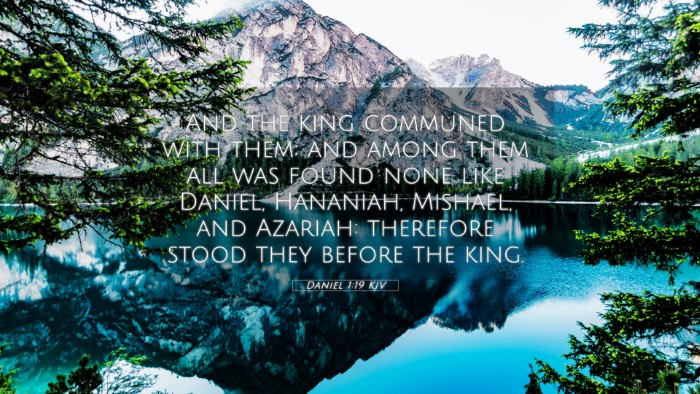 Picture 05 - Daniel 1:19 KJV 4K Wallpaper - And the king communed with them; and among them - 4K Wallpaper Bible Verse