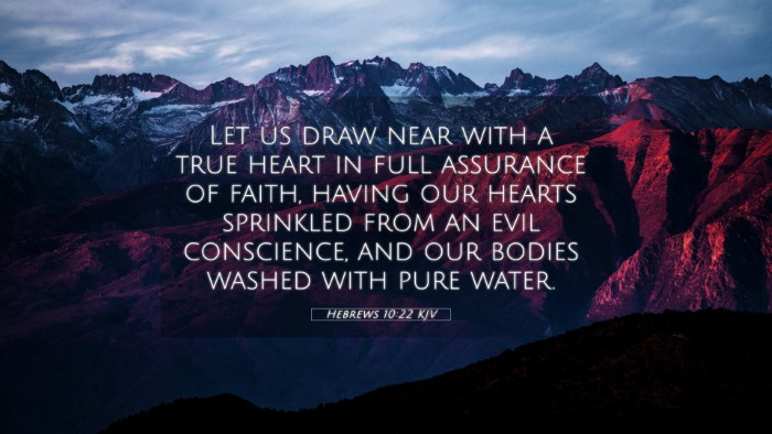 Picture 05 - Hebrews 10:22 KJV 4K Wallpaper - Let us draw near with a true heart in full - 4K Wallpaper Bible Verse