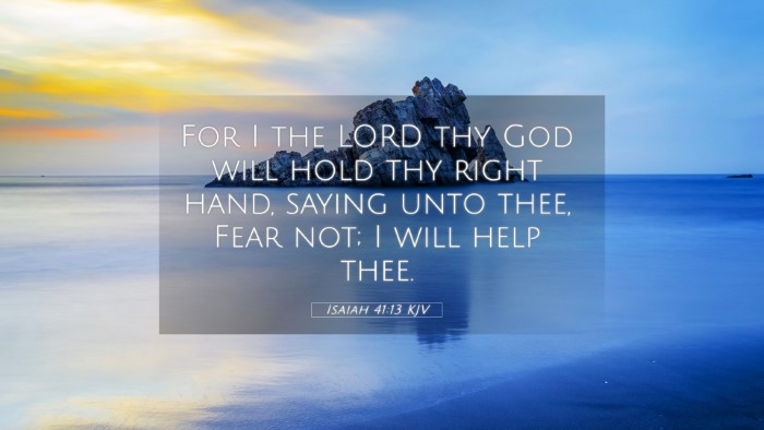 Picture 05 - Isaiah 41:13 KJV 4K Wallpaper - For I the LORD thy God will hold thy right hand, - 4K Wallpaper Bible Verse