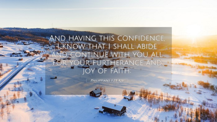 Picture 05 - Philippians 1:25 KJV 4K Wallpaper - And having this confidence, I know that I shall - 4K Wallpaper Bible Verse