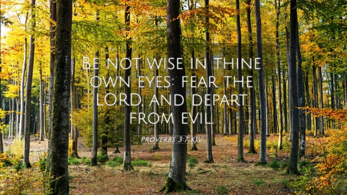 Picture 05 - Proverbs 3:7 KJV 4K Wallpaper - Be not wise in thine own eyes: fear the LORD, and - 4K Wallpaper Bible Verse