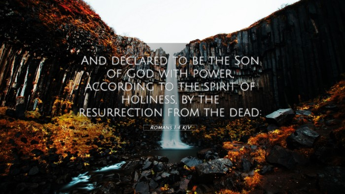 Picture 05 - Romans 1:4 KJV 4K Wallpaper - And declared to be the Son of God with power, - 4K Wallpaper Bible Verse